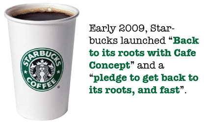 starbucks back to its roots You are probably use to seeing starbucks coffee starbucks returns to its roots schultz is convinced his efforts to take culture back to its roots as a.