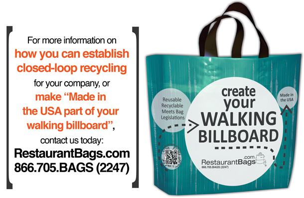 Restaurant Bags Walking Billboards Made in the USA